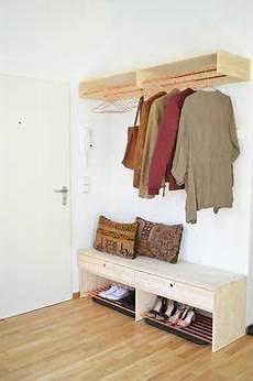 garderobe selber bauen holz make it boho diy holz kupfer garderobe und schuhbank