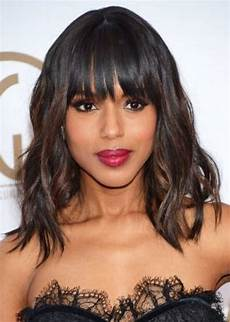 weave with bangs for black hairstylo