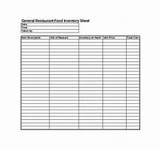 restaurant inventory template 27 free word excel
