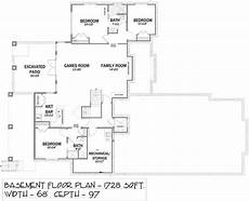 bungalow house plans with basement and garage bungalow style house plan 81143 with 5 bed 3 bath 3