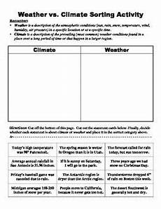 climate weather sorting activity science weather science weather climate weather