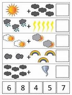 weather math worksheets preschool 14622 weather themed math addition preschool printable daycare curriculum