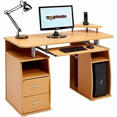 computer desk with shelves cupboard drawers for home