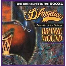 D Angelico 500xl Bronze Wound Light 12 String