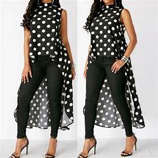 summer tops for women 2018 fashion womens fashion casual sleeveless o neck polka dot black high