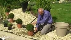 Dans Un Jardin Habiller Un Gravier Avec Des Plantes