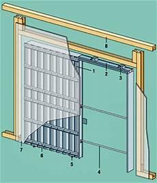 porte coulissante dans cloison une cloison sur ossature et sa porte 224 galandage