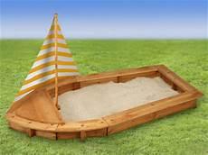 Holz Sandkasten Boot Mit Sonnenschutz Segel