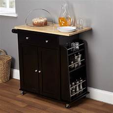 Kitchen Cart Island Walmart by Homcom Home Basics Kitchen Cart With Drawers And