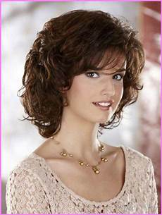 medium length haircuts for curly hair and round face