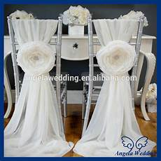 ch010a wholesale cheap chiffon and organza white ruffled wedding chair cover with buckle buy
