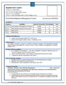 sle of a beautiful resume format of mba fresher resume formats