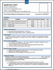 resume blog co sle of a beautiful resume format of mba fresher