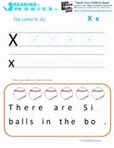 teaching the alphabet letter x and the ks phonics sound