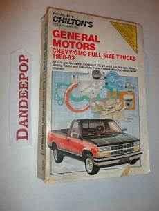 chilton car manuals free download 1998 gmc 2500 club coupe auto manual chilton s repair manual general motors chevy gmc full size truck 1988 93 8215 find me at www