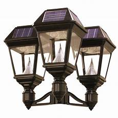shop gama sonic imperial 2 22 in h black solar led light at lowes com