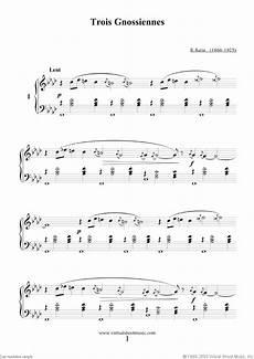 satie trois gnossiennes sheet music for piano solo pdf