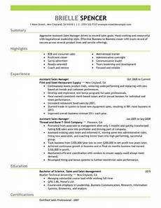 best sales assistant managers resume exle livecareer