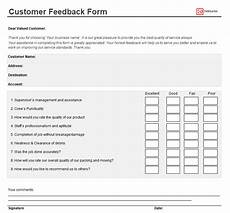 customer feedback form templates sles 100 free word excel