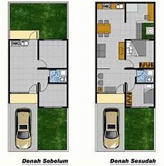 ツ Contoh Gambar Denah Rumah Minimalis 1 Dan 2 Lantai Type 36