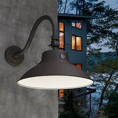 breakwater bay dwayne led outdoor barn light with dusk to