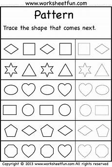 pattern worksheets for preschool pdf 494 patterns trace the shape that comes next one worksheet free printable worksheets