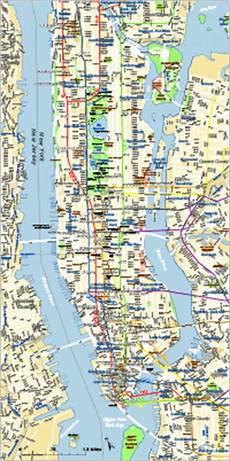 editable manhattan map with subways illustrator