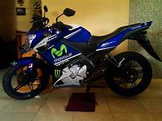 Modifikasi Vixion Movistar by Modif Striping Yamaha New Vixion Half Fairing Movistar