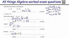 gcse algebra questions worksheets 8549 algebra gcse maths revision foundation worked exles factorising simplifying
