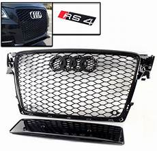 09 12 audi a4 avant s4 b8 honeycomb front hood grille grill glossy black ebay