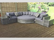 Grey Jessica Rattan Corner Sofa Set   Furniture For Modern