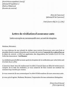 Mod 232 Le De Lettre De R 233 Siliation D Assurance Auto Gratuit
