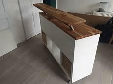 Ikea Hack Kitchen Island Breakfast Bar Kallax On Heavy