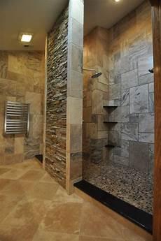 Tile Shower No Door