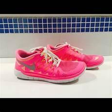 57 nike shoes size 7 neon pink and orange nike free