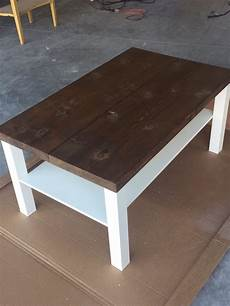 Table Hack by Hackin The Lack Into A Rustic Coffee Table Ikea Hackers