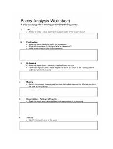 poetry analysis practice worksheet 25530 poetry analysis worksheet printable pdf templateroller