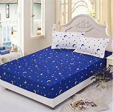 blue star twin full queen size 1pcs bed sheet fitted sheet
