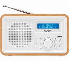 buy logik lhdr15 portable dab fm clock radio light wood