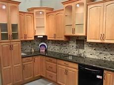 kitchen fair kitchen design ideas using light cherry kitchen cabinet including brown