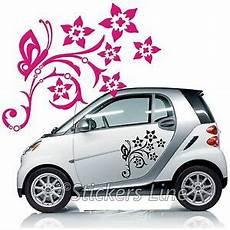 adesivi fiori per auto kit adesivi fiori mod 6 farfalle smart fiat 500 fiori