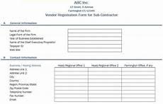 free data collection templates excel vendor registration form