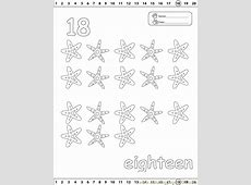 18 Number Coloring Page   Free Numbers Coloring Pages