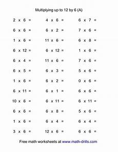 36 horizontal multiplication facts questions 6 by 0 12 a
