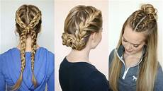 easy sporty hairstyles 3 sporty hairstyles sue youtube