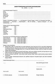form mkt02 surat pemesanan kaveling dan bangunan