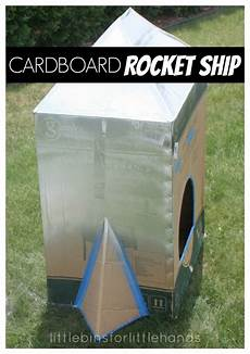cardboard box rocket ship diy rocket ship for