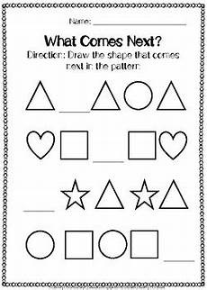 shapes pattern worksheets kindergarten 1167 shapes patterns worksheets by c creations tpt