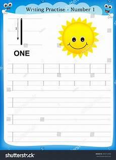 worksheets basic 18788 writing practice number one printable worksheet for preschool kindergarten to improve