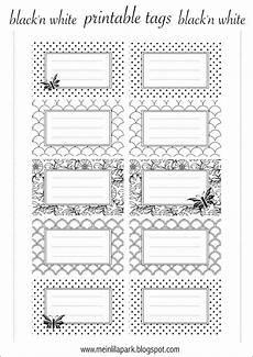 Free Printable Tags Black And White Ausdruckbare